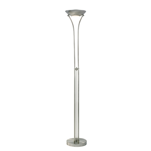 Sonneman Lighting Modern Torchiere Lamp in Satin Nickel Finish 3249.13