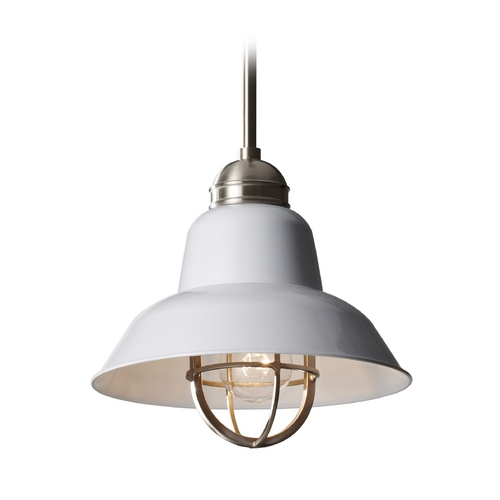 Feiss Lighting Mini-Pendant Light P1239BS/GW