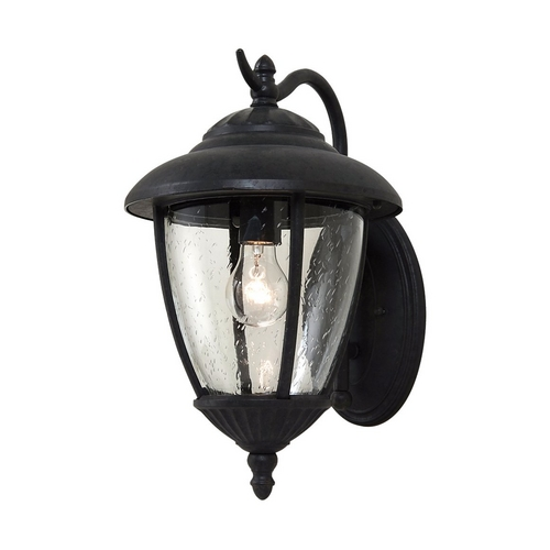 Sea Gull Lighting Outdoor Wall Light with Clear Glass in Oxford Bronze Finish 84070-746
