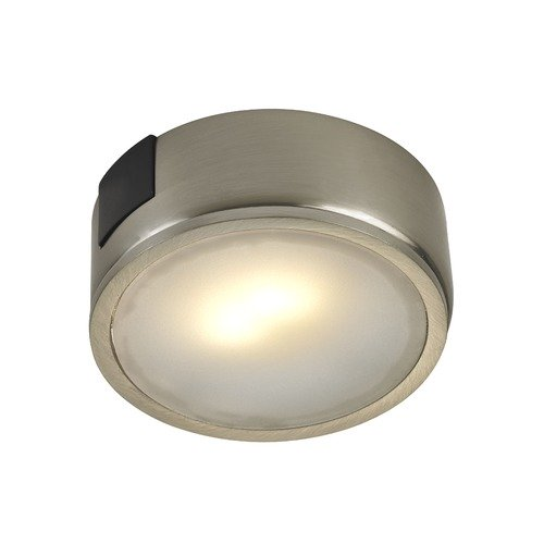 Recesso Lighting by Dolan Designs 120 Volt Satin Nickel LED Puck Light Surface Mount 3000K 260 Lumens UCPS-3000-SN