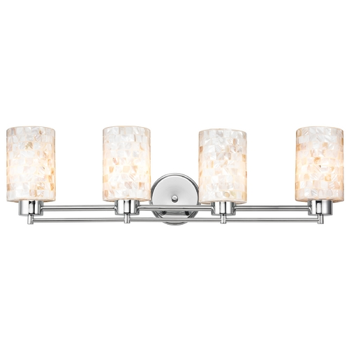 Design Classics Lighting Bathroom Light with Mosaic Glass - Four Lights 704-26 GL1026C