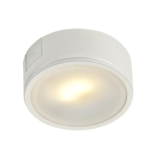 Recesso Lighting by Dolan Designs White Surface Mount LED Puck Light - 3000K LED UCPS-3000-WH