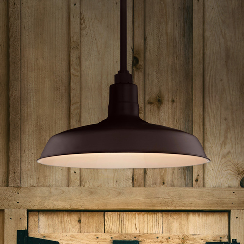 Recesso Lighting by Dolan Designs Bronze Pendant Barn Light with 16