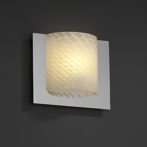 Justice Design Group Justice Design Group Fusion Collection Sconce FSN-5560-WEVE-CROM