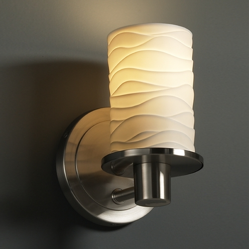 Justice Design Group Justice Design Group Limoges Collection Sconce POR-8511-10-WAVE-NCKL