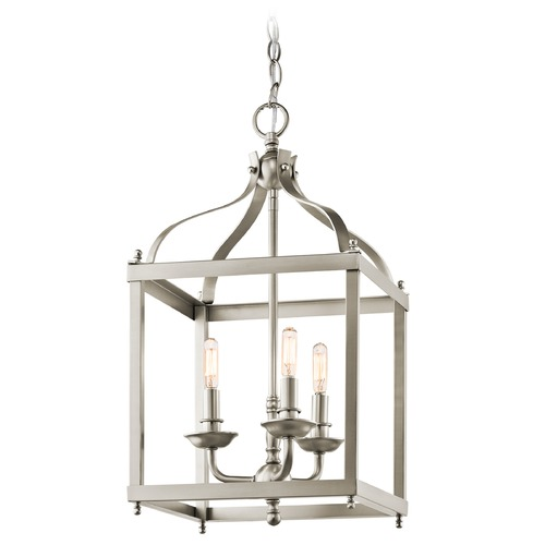 Kichler Lighting Kichler Pendant Light in Brushed Nickel Finish 42566NI