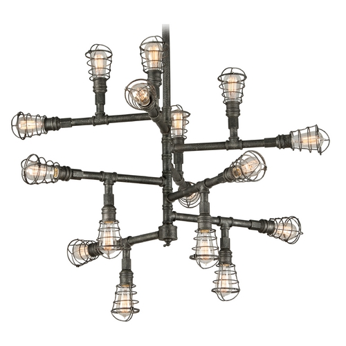 Troy Lighting Troy Lighting Conduit Old Silver Pendant Light F3818