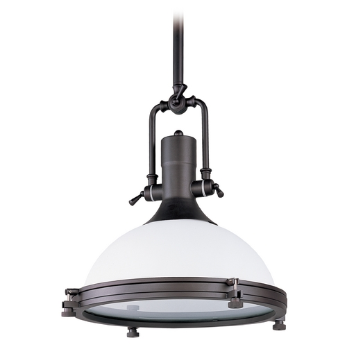 Maxim Lighting Maxim Lighting Hi-Bay Bronze Pendant Light with Bowl / Dome Shade 25117SWBZ