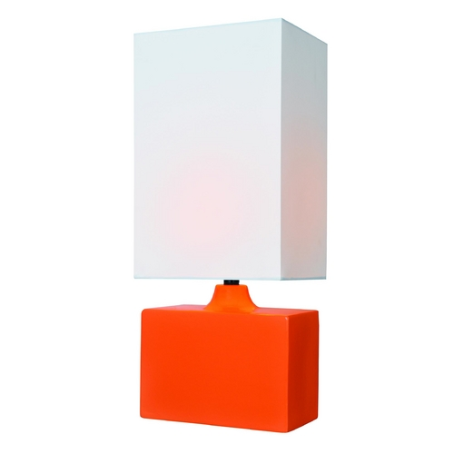 Lite Source Lighting Lite Source Lighting Kara Orange Table Lamp with Rectangle Shade LS-22378ORN