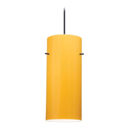 WAC Lighting Wac Lighting Contemporary Collection Black Mini-Pendant with Cylindrical Shade PLD-F4-454AM/BK