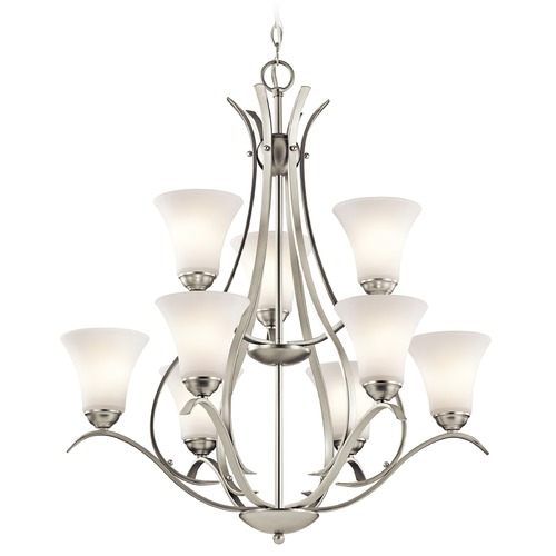 Kichler Lighting Kichler Lighting Keiran Brushed Nickel Chandelier 43506NI