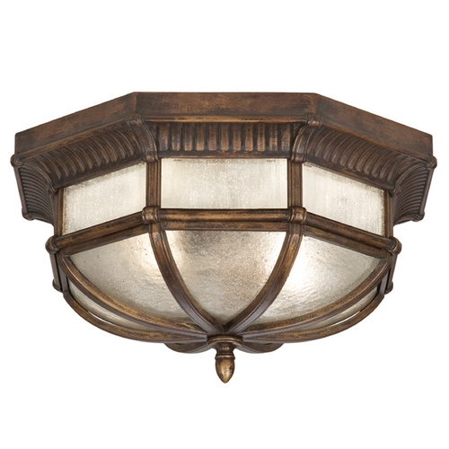 Fine Art Lamps Seeded Glass Close To Ceiling Light Bronze Fine Art Lamps 845282ST