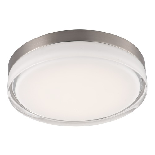 Maxim Lighting Maxim Lighting Illuminaire LED Satin Nickel LED Flushmount Light 87634CLWTSN
