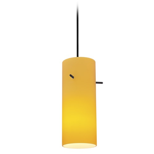 Access Lighting Access Lighting Cylinder Oil Rubbed Bronze LED Mini-Pendant Light with Cylindrical Shade 28030-3C-ORB/AMB