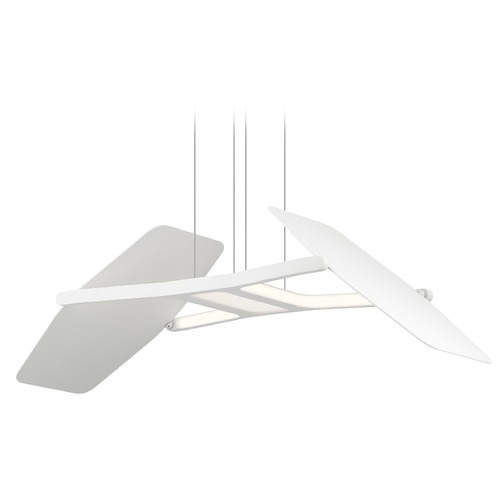 Elan Lighting Elan Lighting Wings Matte White LED Pendant Light 83862