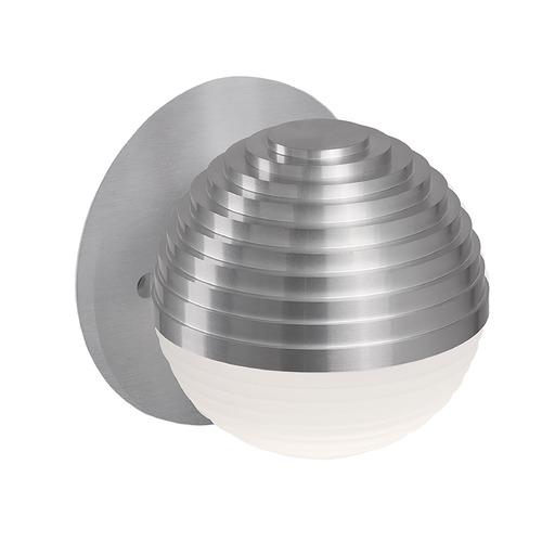 Kuzco Lighting Modern Brushed Nickel LED Sconce with Frosted Shade 3000K 260LM WS10501-BN