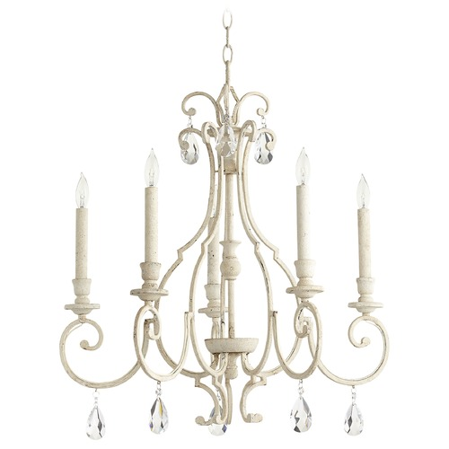 Quorum Lighting Quorum Lighting Ansley Persian White Chandelier 6014-5-70