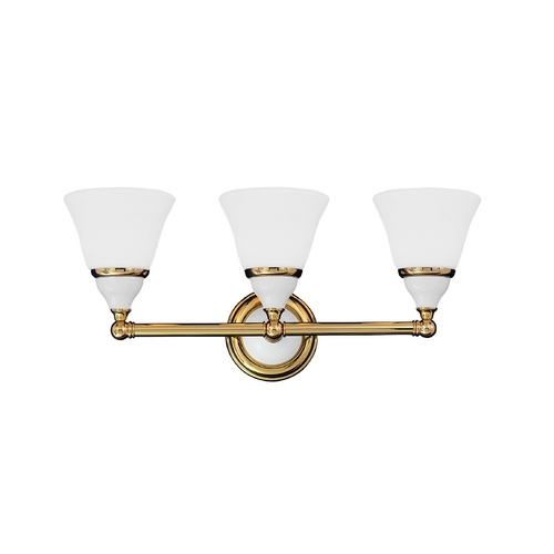 Hudson Valley Lighting Bathroom Light with White Glass in Polished Nickel Finish 463-PN