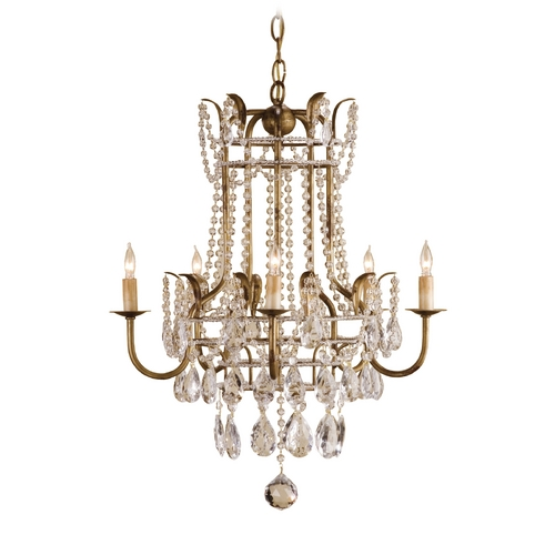Currey and Company Lighting Mini-Chandelier in Rhine Gold Finish 9643