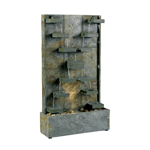 Kenroy Home Lighting Modern Fountain in Natural Green Slate Finish 50375SL