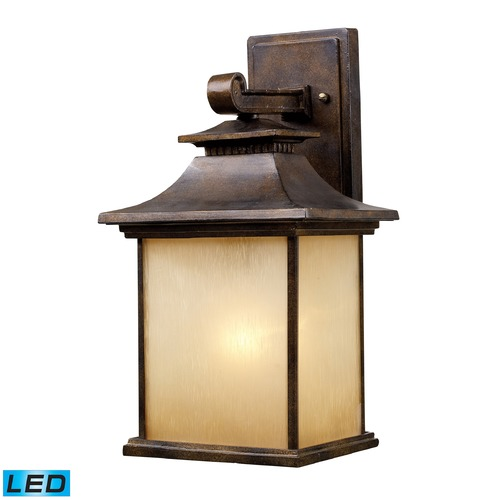 Elk Lighting Elk Lighting San Gabriel Hazlenut Bronze LED Outdoor Wall Light 42181/1-LED