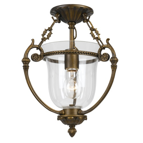 Crystorama Lighting Crystorama Lighting Pendant Antique Brass Semi-Flushmount Light 5661-AB