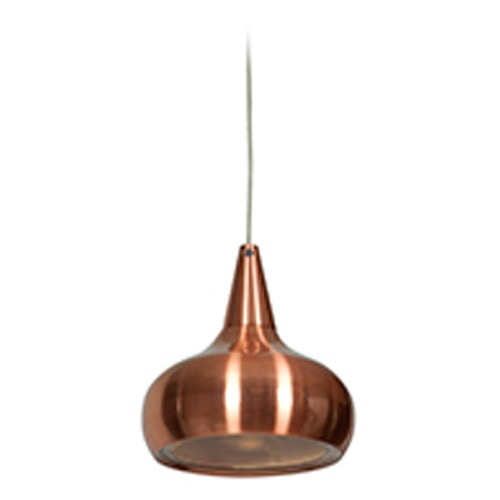 Access Lighting Access Lighting Essence Brushed Copper LED Mini-Pendant Light with Bowl / Dome Shade 70065LEDD-BCP/ACR