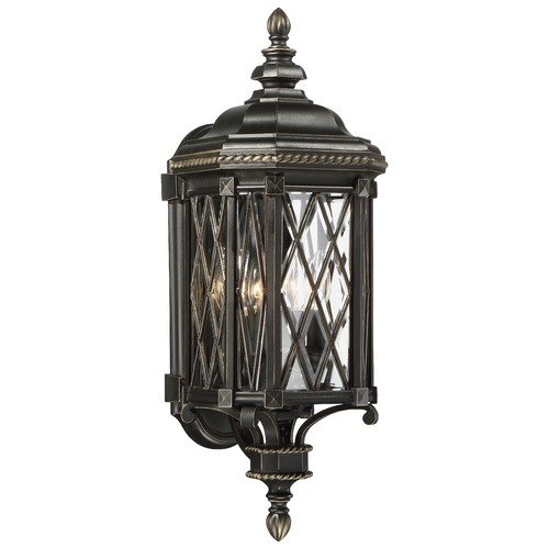 Minka Lavery Minka Bexley Manor Black with Gold Outdoor Wall Light 9321-585