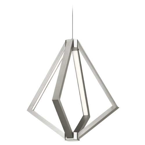 Elan Lighting Elan Lighting Everest Satin Nickel LED Pendant Light 83885
