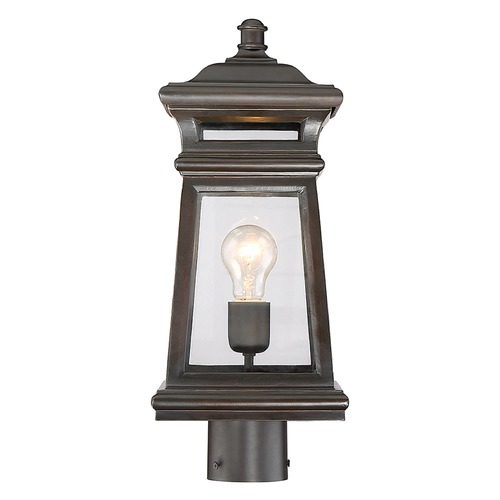 Savoy House Savoy House Lighting Taylor English Bronze / Gold Post Light 5-244-213