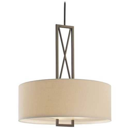 Minka Lavery Drum Pendant Lights in Harvard Ct. Bronze Finish 4362-281