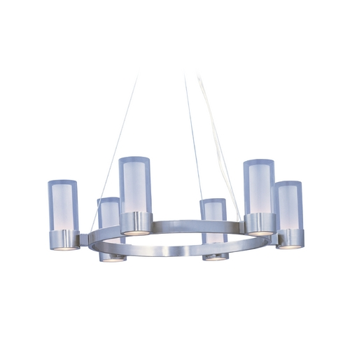 Maxim Lighting Modern Chandelier with Clear Glass in Polished Chrome Finish 23077CLFTPC