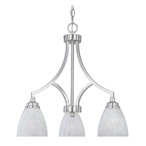 Designers Fountain Lighting Chandelier with Alabaster Glass in Burnished Bronze Finish 82983-SP