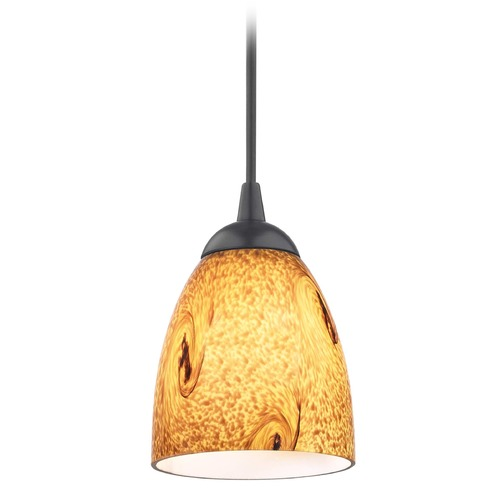 Design Classics Lighting Design Classics Gala Fuse Matte Black LED Mini-Pendant Light with Bell Shade 682-07 GL1001MB
