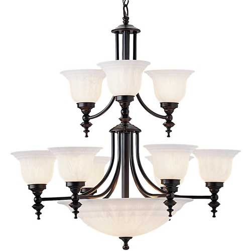 Dolan Designs Lighting Dolan Designs 2-Tier 12-Light Chandelier in Royal Bronze 664-30