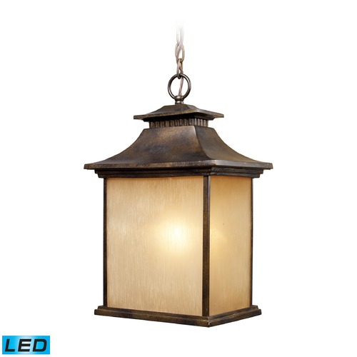 Elk Lighting Elk Lighting San Gabriel Hazlenut Bronze LED Outdoor Hanging Light 42183/1-LED