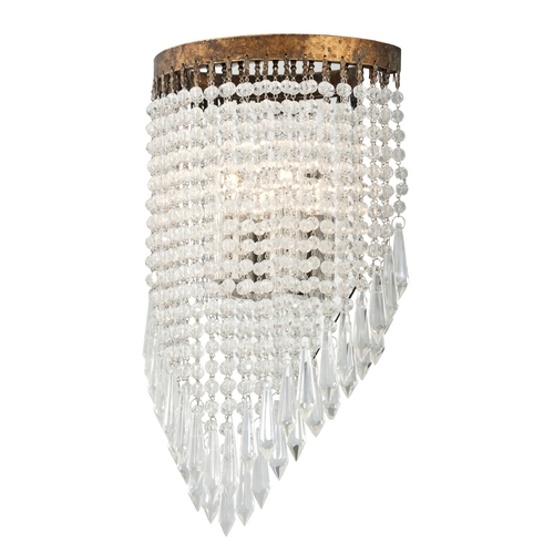 Troy Lighting Troy Lighting Le Marais Gold Leaf with Distressed Wood Sconce B3772