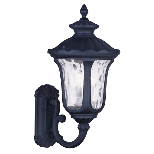Livex Lighting Livex Lighting Oxford Black Outdoor Wall Light 7856-04