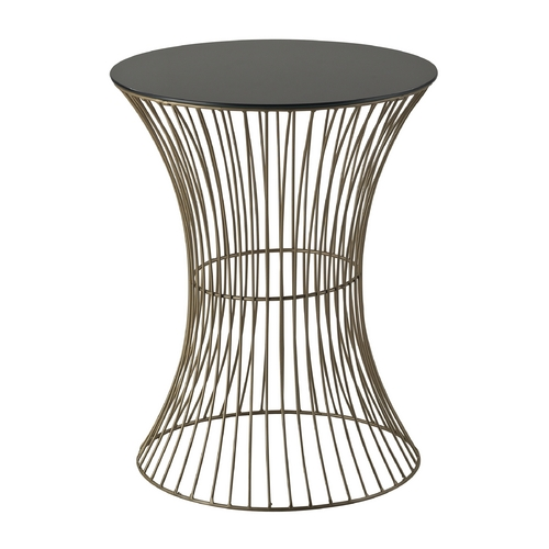 Sterling Lighting Sterling Lighting Gold Paint / Black Acrylic Top Coffee & End Table 137-021