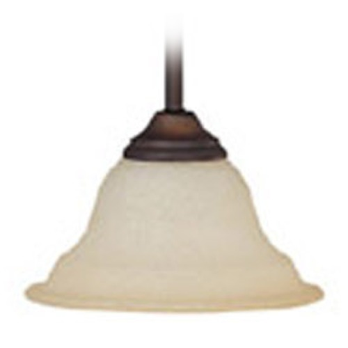 Capital Lighting Capital Lighting Chandler Burnished Bronze Mini-Pendant Light with Bell Shade 3070BB-292