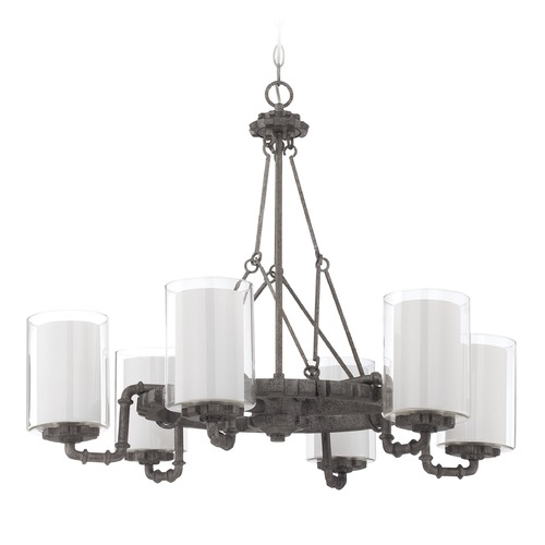 Jeremiah Lighting Jeremiah Lighting Prime Aged Galvanized Chandelier 38626-AGV
