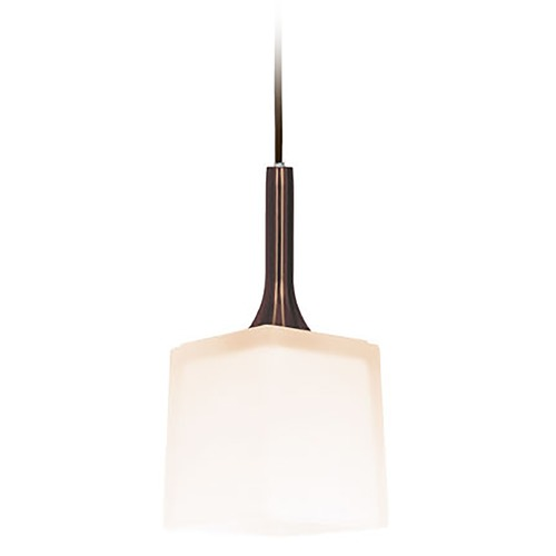 Access Lighting Access Lighting Omega Bronze Mini-Pendant Light with Square Shade 96918-BRZ/OPL