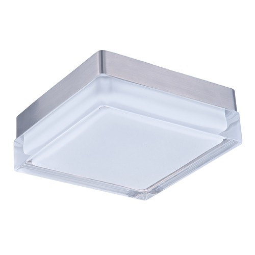 Maxim Lighting Maxim Lighting Illuminaire LED Satin Nickel LED Flushmount Light 87644CLWTSN
