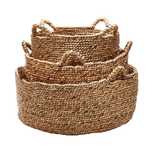 Dimond Home Natural Low Rise Baskets- Set Of 3 784083