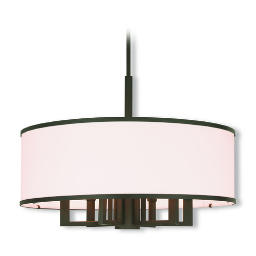 Livex Lighting Livex Lighting Park Ridge Bronze Pendant Light with Drum Shade 62616-07