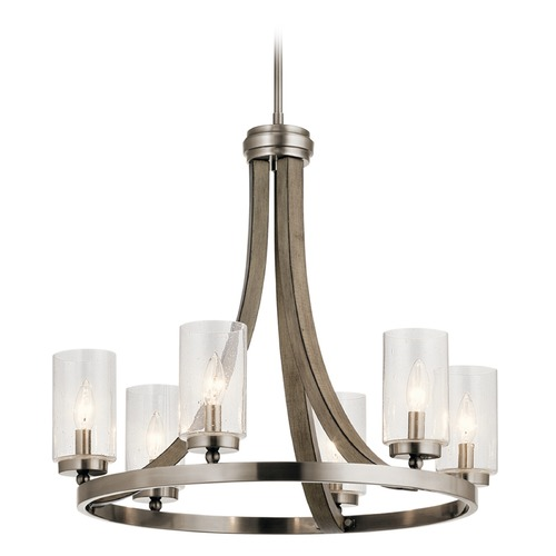 Kichler Lighting: Seeded Glass Chandelier Gray Kichler Lighting