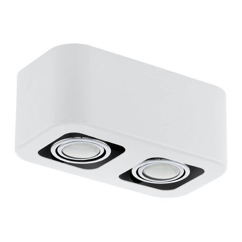 Eglo Lighting Eglo Toreno 1 Glossy White & Chrome Flushmount Light 93012A