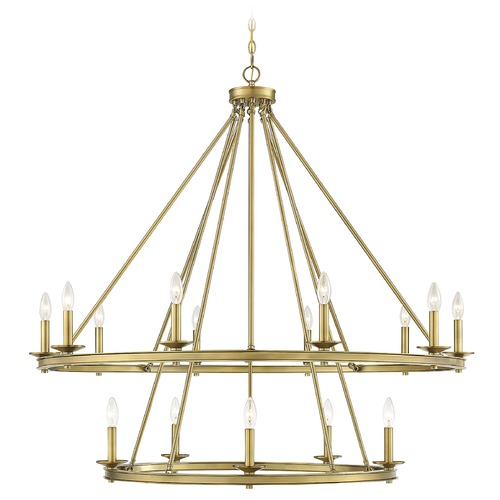 Savoy House Savoy House Lighting Middleton Warm Brass Chandelier 1-312-15-322