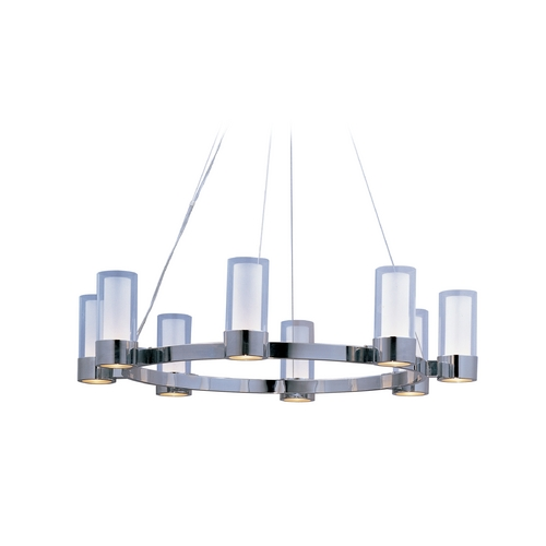 Maxim Lighting Modern Chandelier with Clear Glass in Polished Chrome Finish 23078CLFTPC