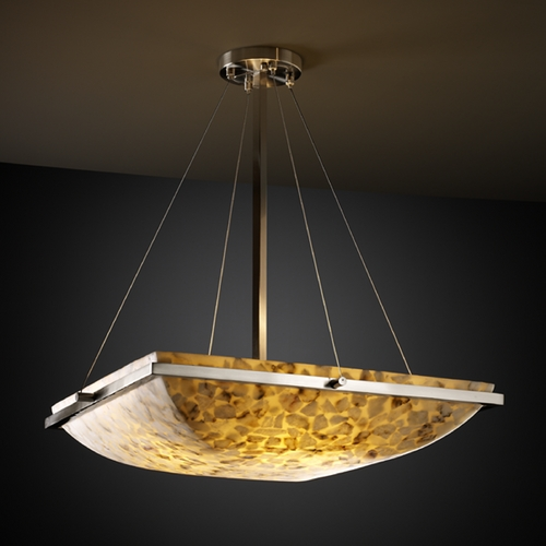Justice Design Group Justice Design Group Alabaster Rocks! Collection Pendant Light ALR-9791-25-NCKL